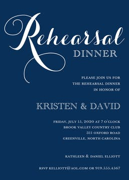 Navy Rehearsal Dinner Invitation