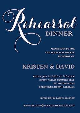 Navy Rehearsal Dinner Invitation
