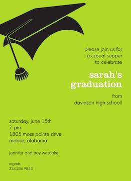 Graduation Chartreuse Invitation