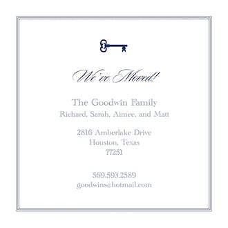 Pinstripes Navy Square Invitation