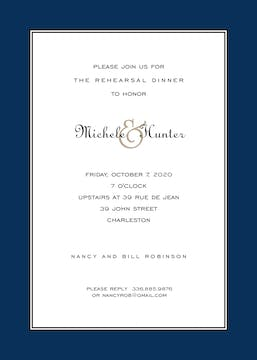 Elegance Navy Invitation