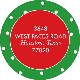 Joy To The World Round Address Sticker (Designed by Natalie Chang)
