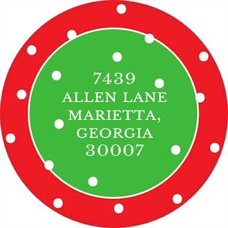 O Holy Night Round Address Sticker (Designed by Natalie Chang)