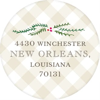 Joy Round Address Sticker (Designed by Natalie Chang)