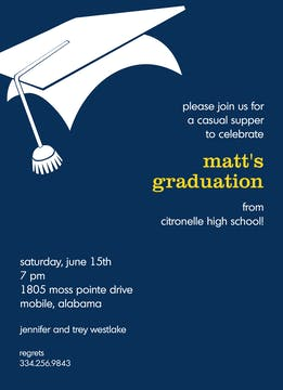 Graduation Invitation - Navy