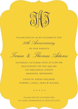 Solids Marigold Invitation