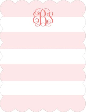 Broad Stripes Blush Flat Note