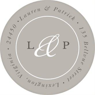 Formal Duo Grey Round Address Label
