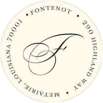 Ivory Round Address Label