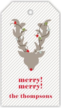 Reindeer in Lights Hanging Gift Tag (Designed by Natalie Chang)