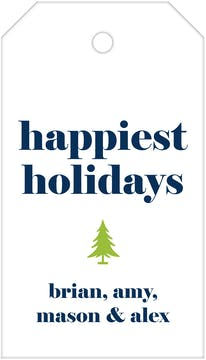 Happiest Holidays Hanging Gift Tag