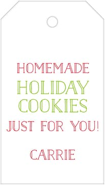 Holiday Cookies Hanging Gift Tag