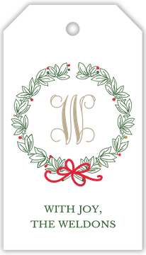 Traditional Wreath Hanging Gift Tag (Designed by Natalie Chang)