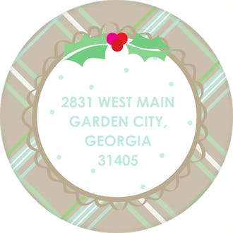 Warm Wishes Round Address Label (Designed by Natalie Chang)
