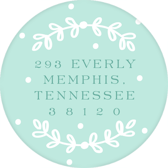Happiest New Year Round Address Label (Designed by Natalie Chang)