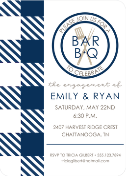 BBQ Navy Invitation
