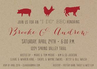 Livestock BBQ Invitation