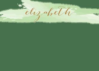 Brushstroke Green Flat Note