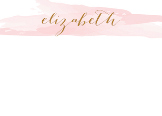 Brushstroke Blush Flat Note