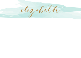 Brushstroke Aqua Flat Note