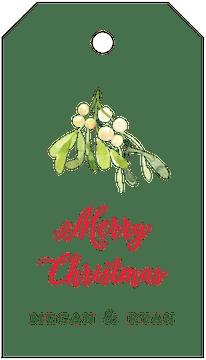 Mistletoe Hanging Gift Tag