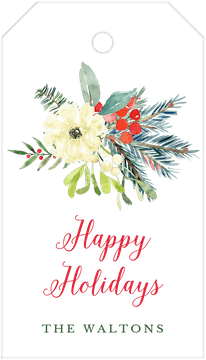 Holiday Bouquet Hanging Gift Tag