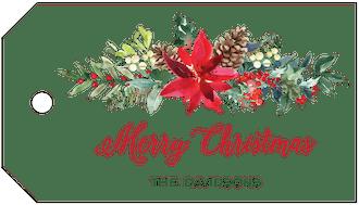 Christmas Flora Hanging Gift Tag