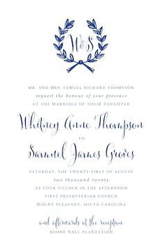 Wedding Wreath Invitation (Designed by Natalie Chang)