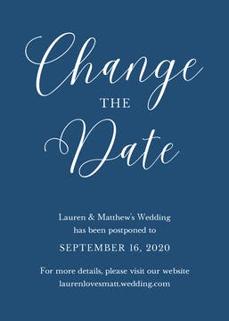 Change the Date Announcement