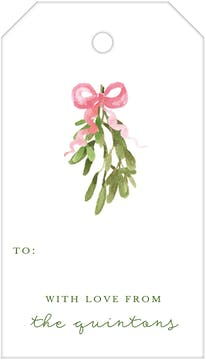 Mistletoe Wishes Hanging Gift Tag