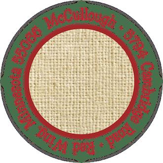 Burlap Round Address Label