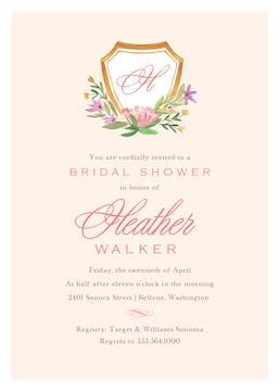 Floral Crest Invitation