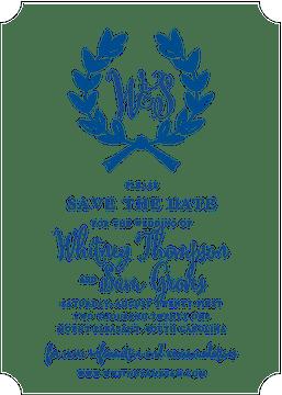 Wedding Wreath Royal Invitation (Designed by Natalie Chang)