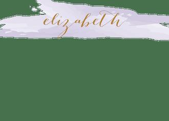 Brushstroke Lavender Flat Note