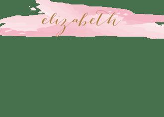 Brushstroke Pink Flat Note