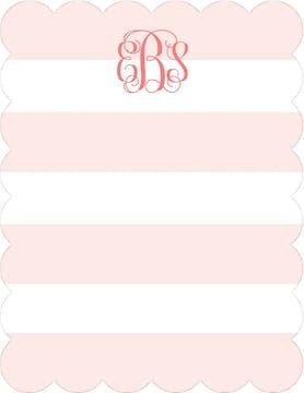 Broad Stripes Blush Flat Note