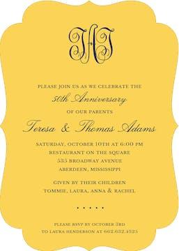 Solids Marigold Invitation