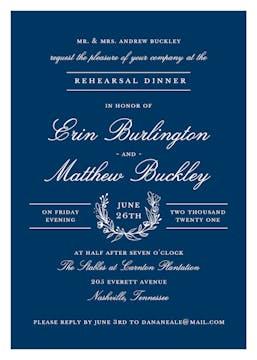 Classic Evening Navy Invitation