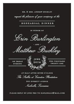 Classic Evening Black Invitation