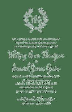 Wedding Wreath Sage Invitation (Designed by Natalie Chang)