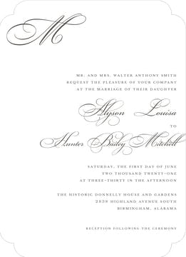White Invitation
