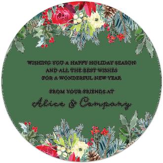 Round Winter Garden Card