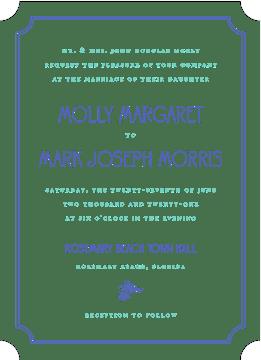 Rosemary Wedding Cobalt Invitation
