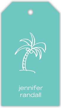 Turquoise Hanging Gift Tag