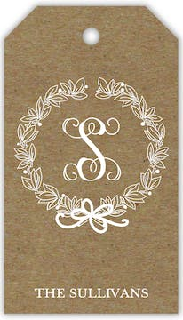 Traditional Wreath on Kraft Hanging Gift Tag (Designed by Natalie Chang)