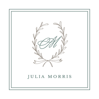 Laurel Wreath Shale Enclosure Card