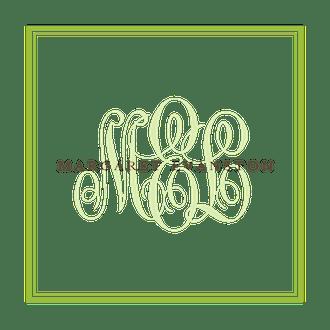 Tailored Monogram Grasshopper Square Enclosure Card