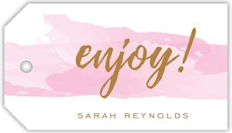 Brushstroke Pink Hanging Gift Tag
