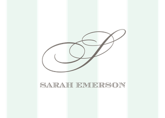 Broad Stripes Mint Folded Enclosure Card
