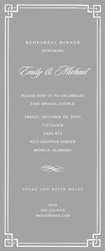 Silver Classic Border Invitation
